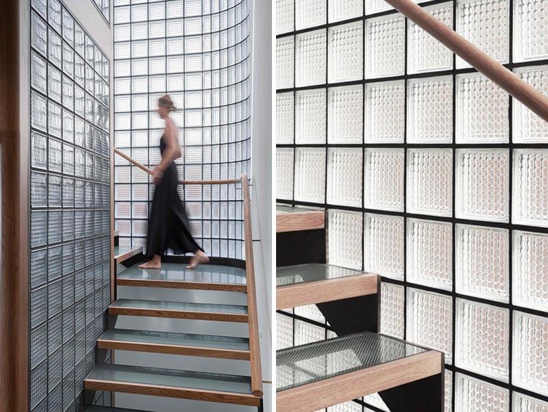 Gạch kính lấy sáng khẳng định ưu thế của vật liệu nội thất hiện đại