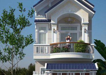 Thiết kế nhà 1 trệt 1 lầu mái Thái hiện đại