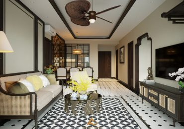 Màu sắc của phong cách thiết kế nội thất Đông Dương thường là các màu trầm