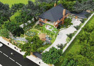 bố trí cảnh quan sân vườn theo phong cách thiết kế của ngôi nhà