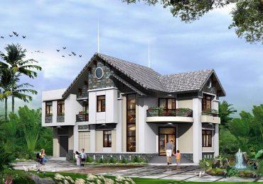 Mẫu thiết kế nhà 2 tầng đẹp nông thôn