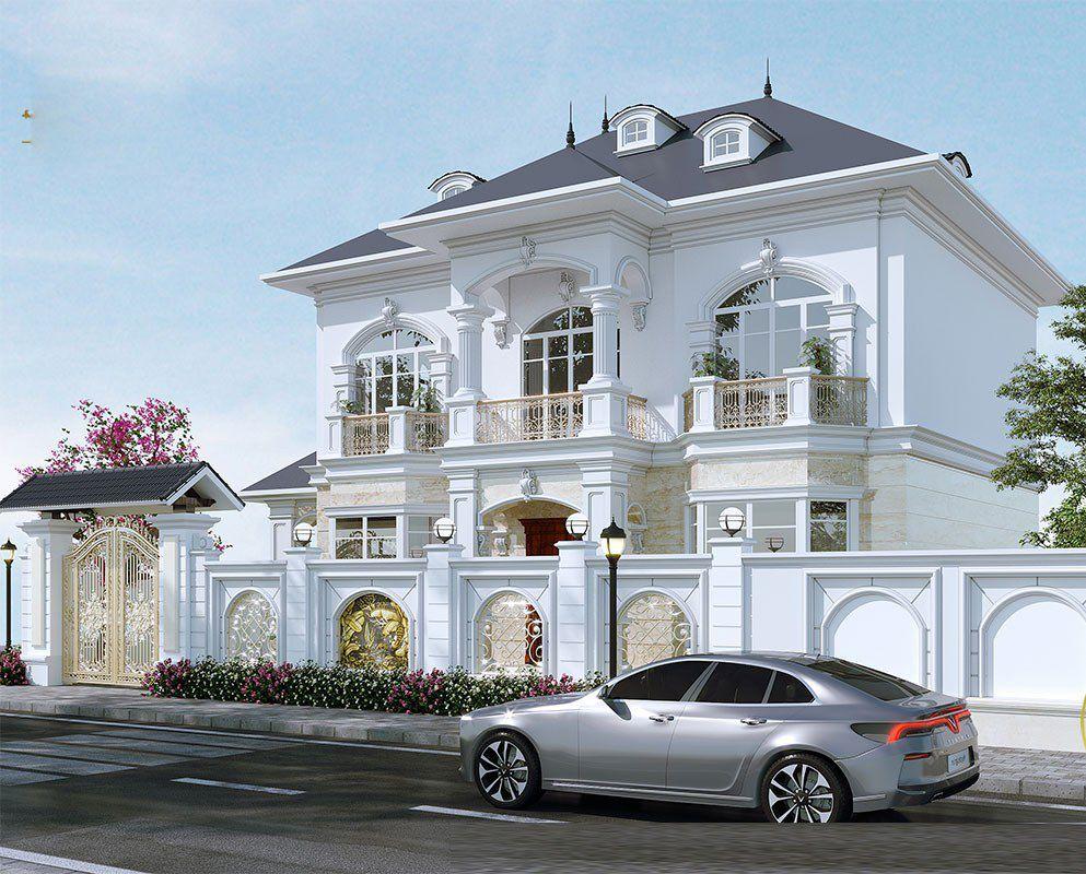 Mẫu nhà 2 tầng kiến trúc tân cổ điển