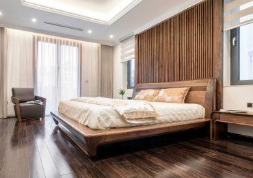 Phòng ngủ hiện đại với gam màu mông mơ dành cho những người trẻ trung