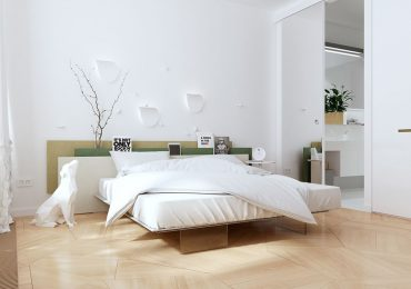 lựa màu sắc tươi sáng cho phòng ngủ tối giản
