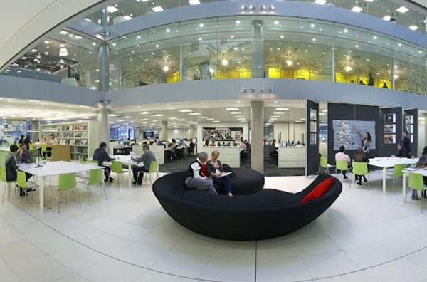Thiết kế không gian mở, nhưng vẫn đáp ứng nhu cầu riêng tư của nhân viên
