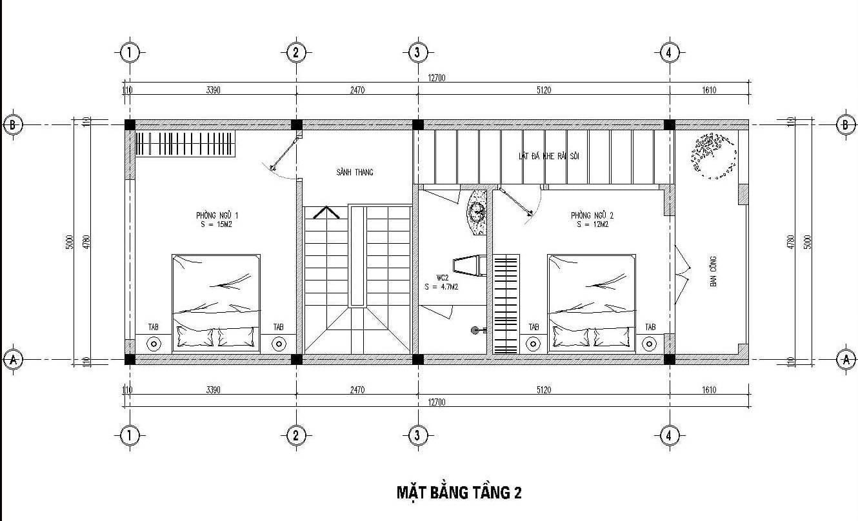 thiết kế mẫu nhà 5x11m