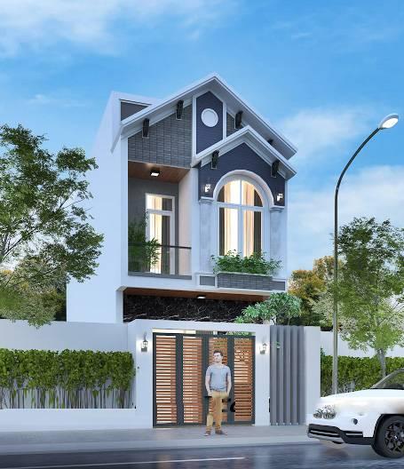 mẫu nhà 2 tầng 5x16m