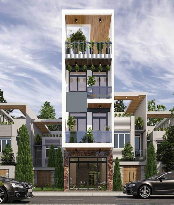 mẫu nhà 3 tầng 1 tum đẹp