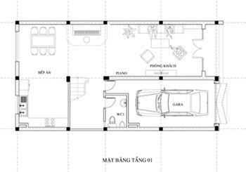 mẫu nhà 3 tầng 7x15m