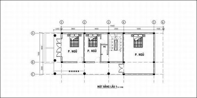 mẫu nhà 3 tầng 7x18m