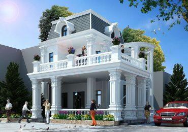 Thiết kế biệt thự 2 tầng có gara phong cách tân cổ điển