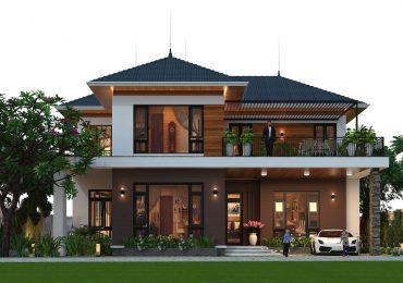 Mái nhà sẽ phối hợp cùng kiến trúc biệt thự tạo nên căn nhà đầy ấn tượng và đẳng cấp
